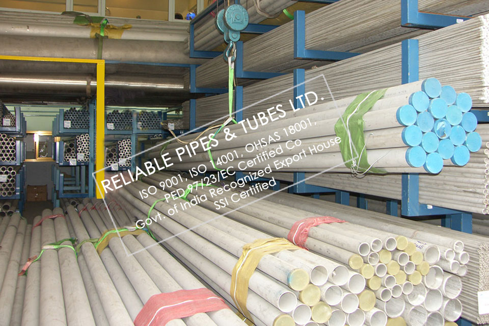 ASTM A312 316H Stainless Steel Pipe in RELIABLE PIPES & TUBES Stockyard