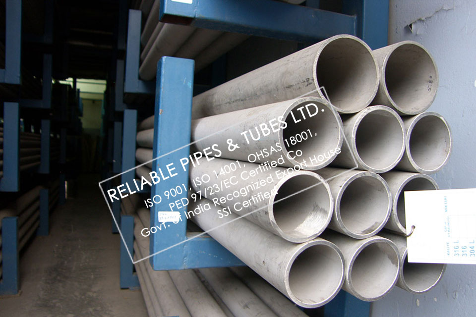 ASTM A312 321 Stainless Steel Pipe in RELIABLE PIPES & TUBES Stockyard