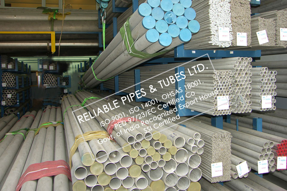 ASTM A312 347H Stainless Steel Pipe in RELIABLE PIPES & TUBES Stockyard