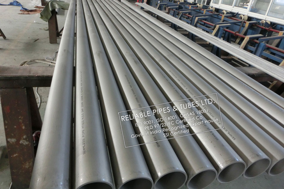 ASTM A312/A813 254 SMO Pipe/ Sandvik 254 SMO in RELIABLE PIPES & TUBES Stockyard