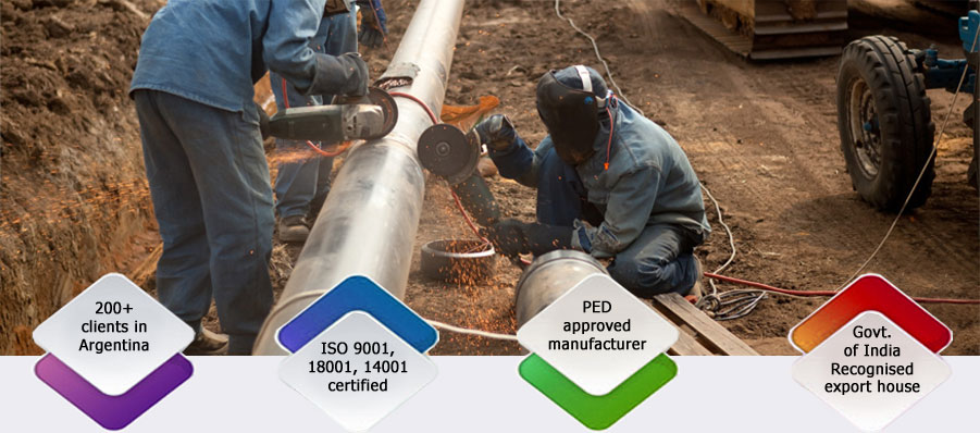 Supplied X42 Pipe in Argentina