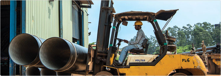 TATA DI pipes in RELIABLE PIPES & TUBES Stockyard